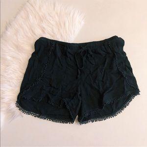 Black Pom Pom Shorts